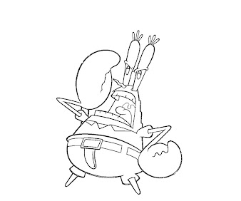 #6 Mr Krabs Coloring Page