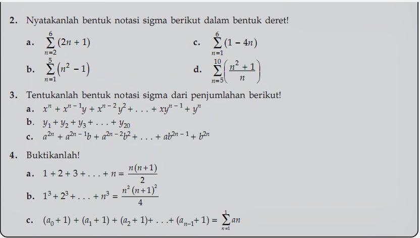 Matematika Di Sma Notasi Sigma Dan Induksi Matematika