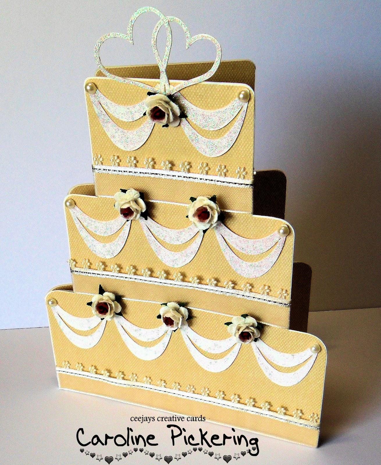 CJ\'s Creative Cards: Wedding Cake Shaped Card