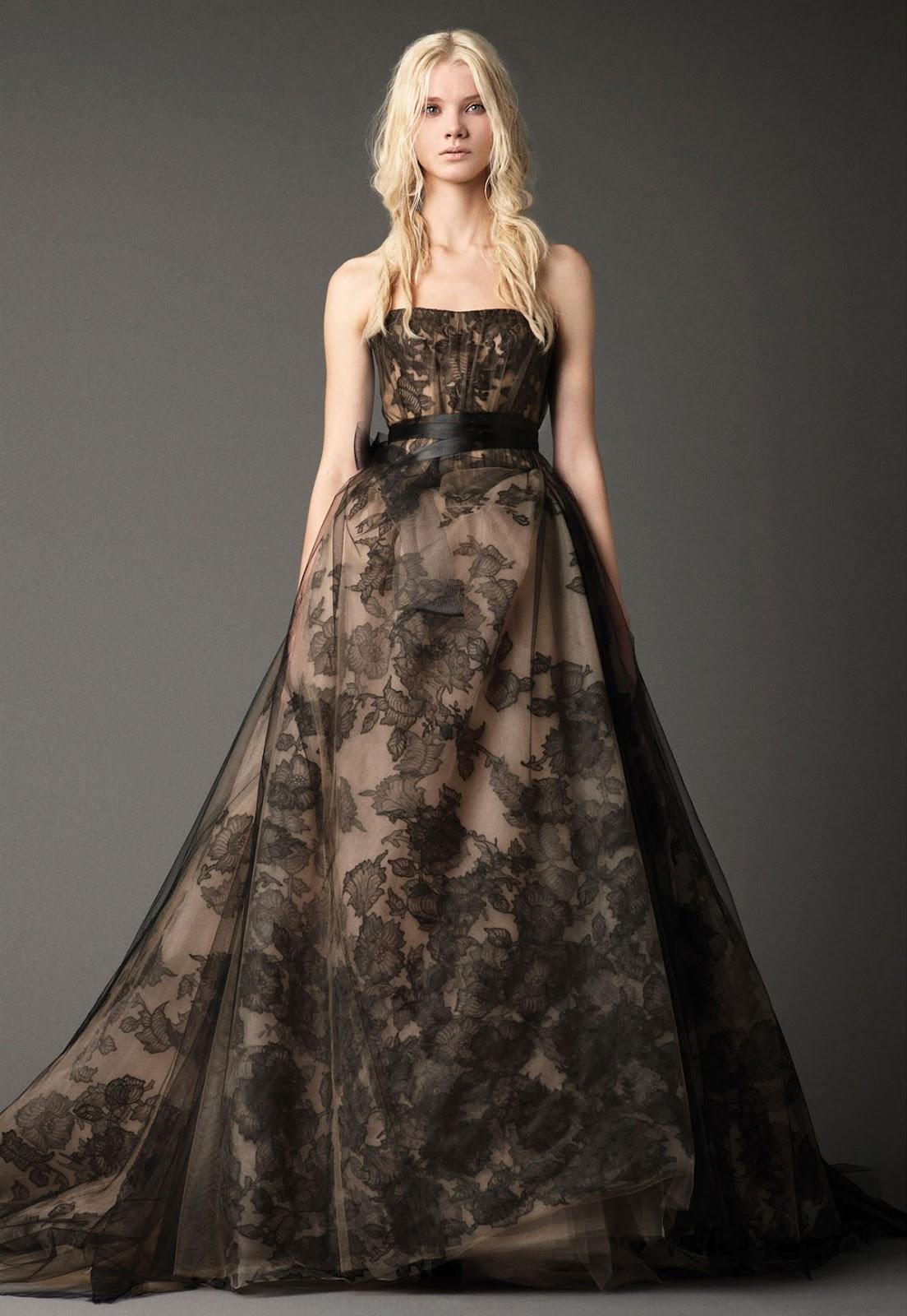 CJNT Wedding Inspirations Vera Wang Fall 2012 Bridal Gown Collection Black Colour