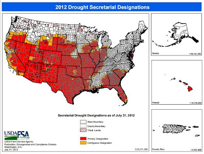 USDA Secretary's drought designations