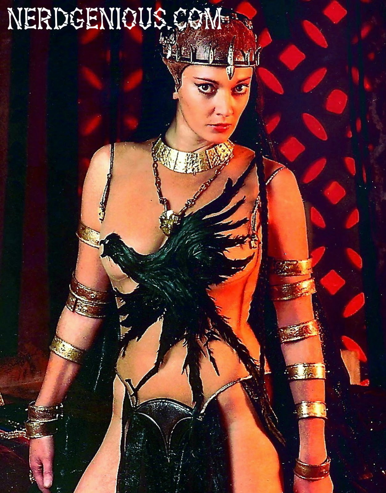 Superman villain Sarah Douglas as Queen Taramis in Conan the Destroyer