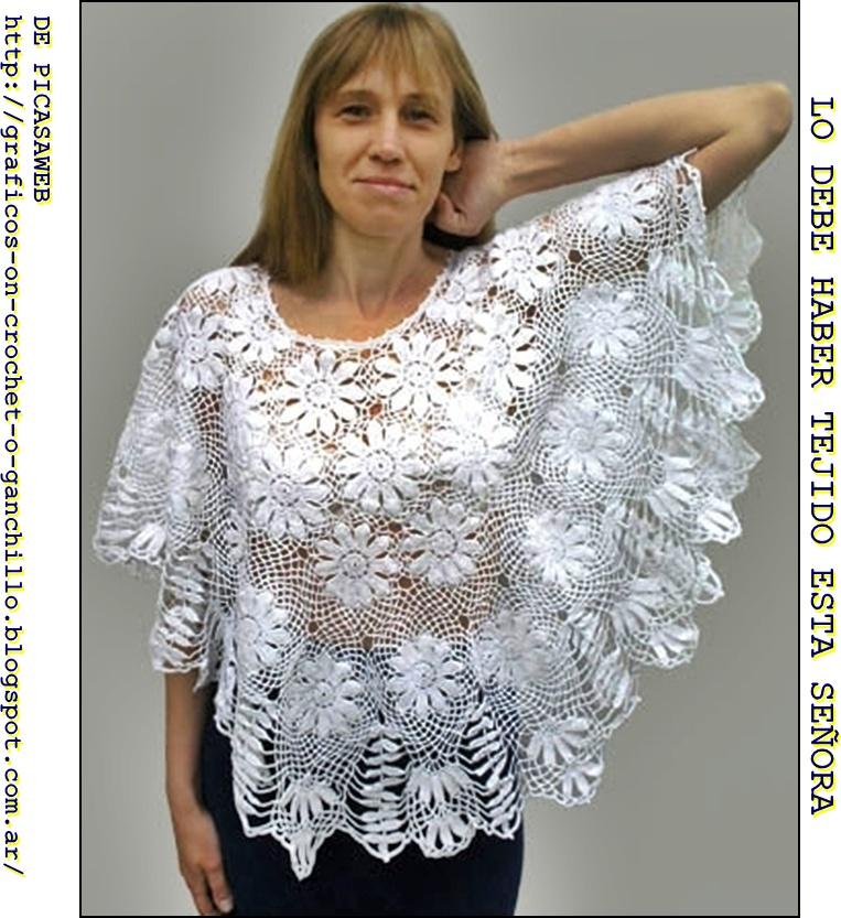 capita imagen de chal chalina patrones a crochet graficos a