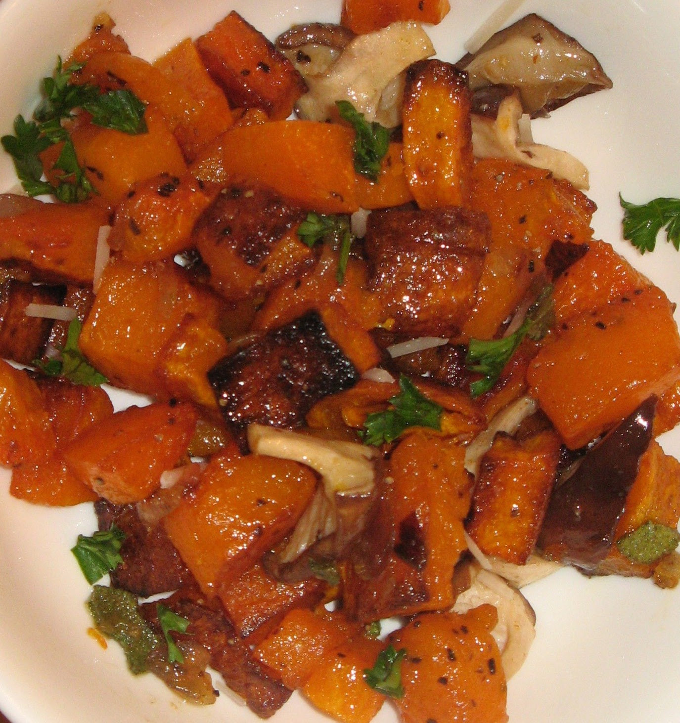 Roasted Butternut Squash with Shiitake Mushrooms and Sage ...