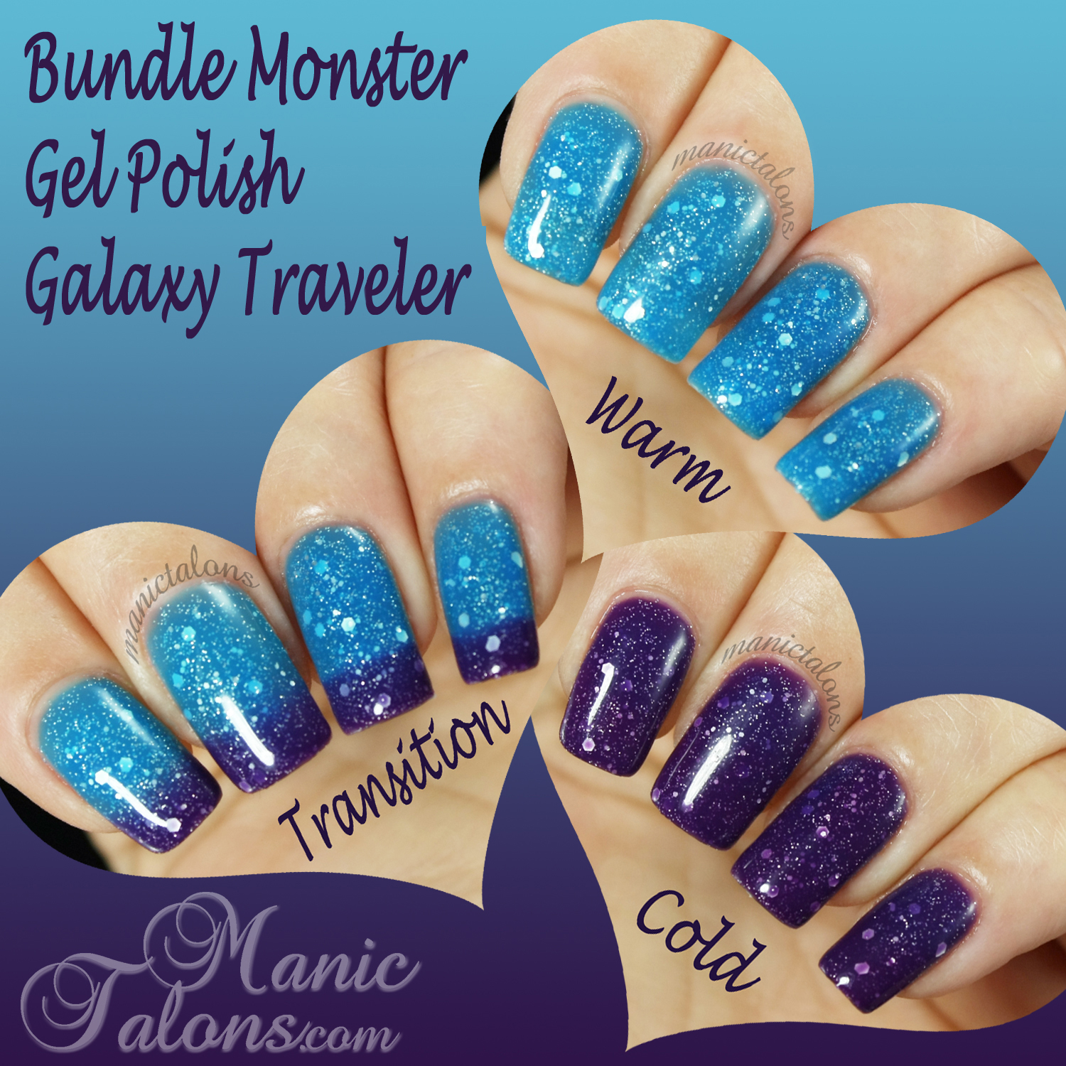 Bundle Monster Thermal Gel Polish Galaxy Traveler Swatch