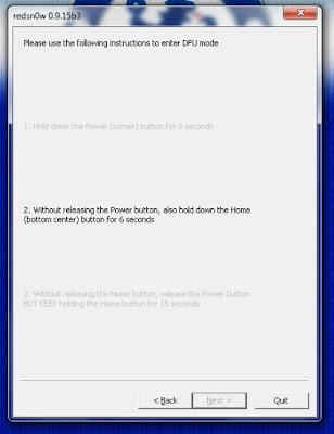 """Step 7 : """"Lepaskan Tombol Power Tanpa melepaskan Tombol Home (Tombol"""