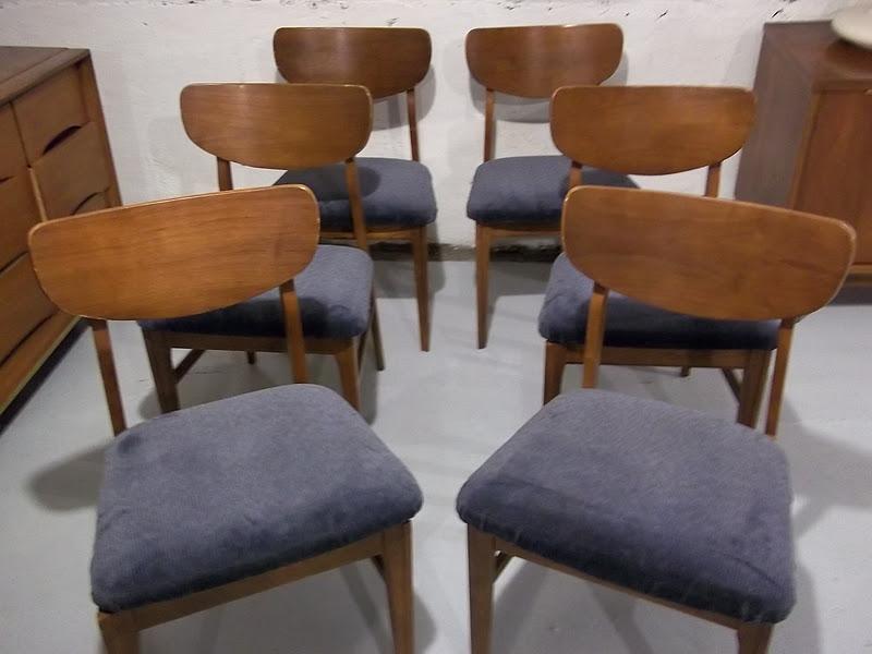 Six 6 Danish Modern Dining Room Chairs By Keller Plus  : 1002363 from gatyoretro.blogspot.com size 800 x 600 jpeg 67kB