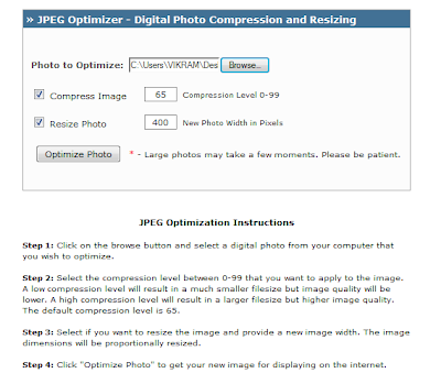 compress and resize jpeg pictures without losing picture quality