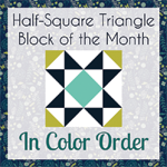 Half Square Triangle - Block of the Month