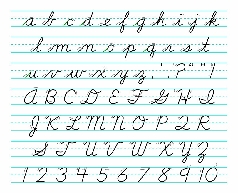 Learning Cursive Handwriting Hand Writing