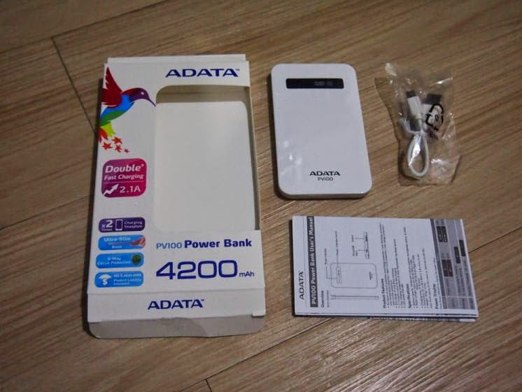 ADATA PV100 4200mAh Power Bank Review: Power On The Go Retail Package