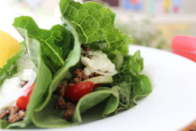 Lamb Lettuce Wraps with Tzatziki