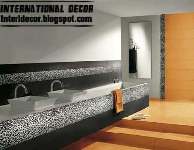 Orange Wall Tiles Fashions Latest Designs For Modern Bathroom