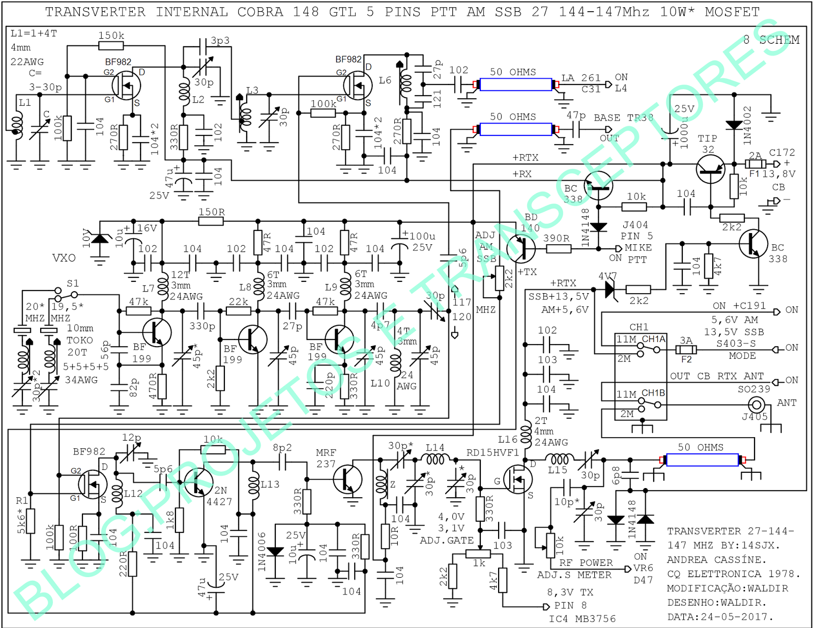 Усилитель на rd15hvf1 на 144mhz схема
