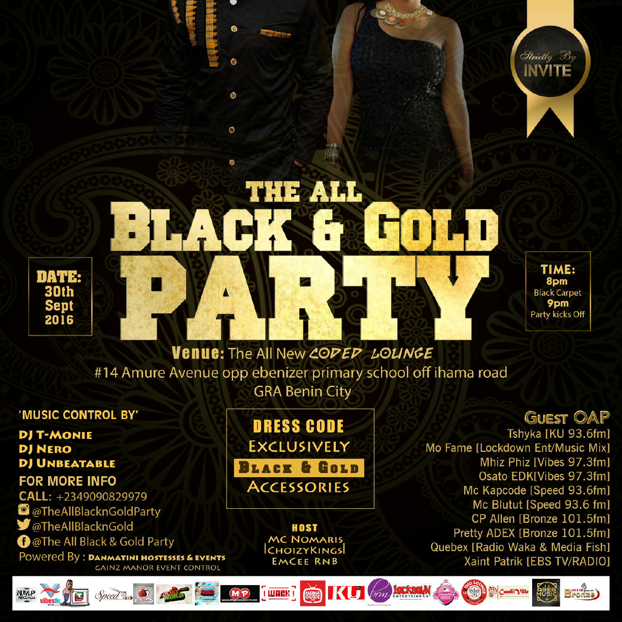 Dress code freestyle - The Date Is Set Venue Is Ready Theallblackngoldparty