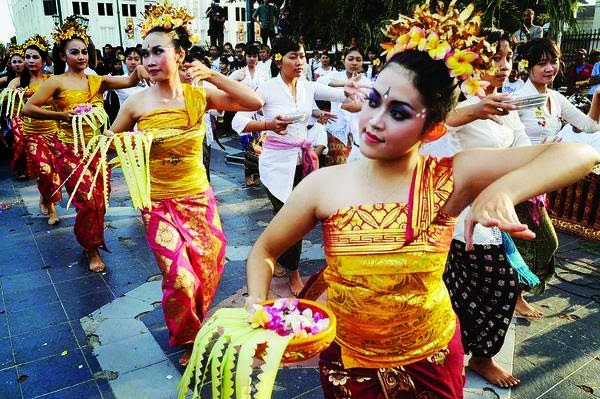 Pendet dance is original art from bali indonesia tari pendet tari pendet is one of the main cultural treasures in indonesia that is still preserved tari pendet a worship dance that is often performed in pura m4hsunfo