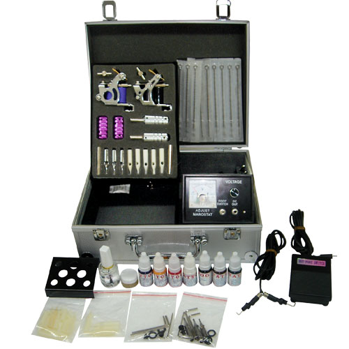 Devyy tattoo celebrity new tattoo gun kits machines for At home tattoo kit