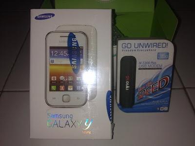 Samsung Galaxy Young dan Modem IVIO 3G