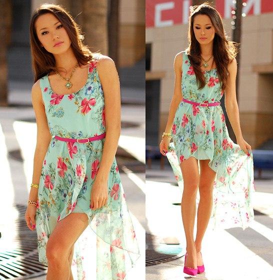 Красивые летние модные платья