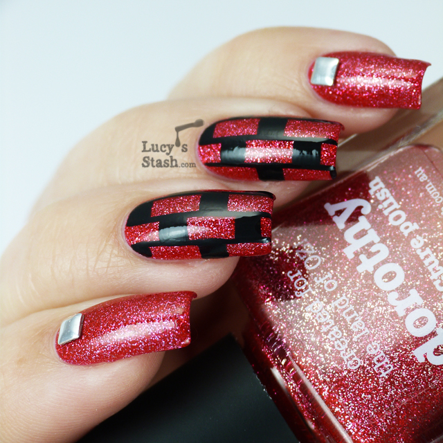 Lucy's Stash: Patterned nail art featuring piCture pOlish Dorothy with tutorial!