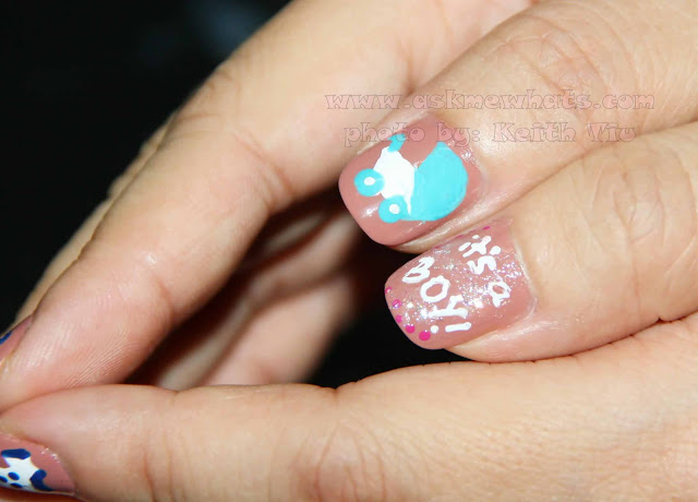Askmewhats: Nail Art Tutorial: It's A Baby Boy! - Nail Designs It's A - Baby Boy Nail Designs Graham Reid
