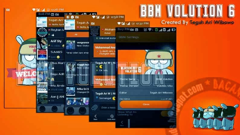 Download BBM mod volution 6 apk free