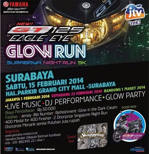 GT125 Eagle Eye Glow Run Night Series 5K Surabaya