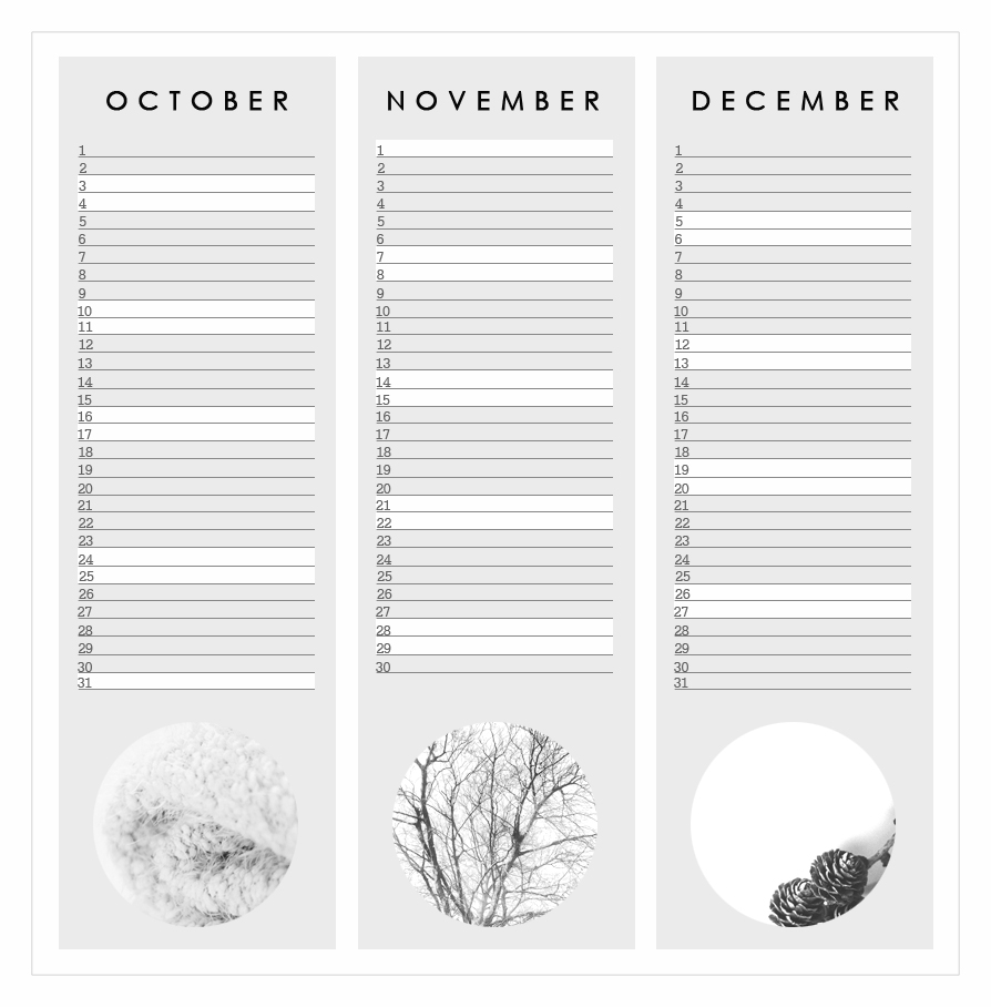free home printable calendar 2015 graphic design grey october november december
