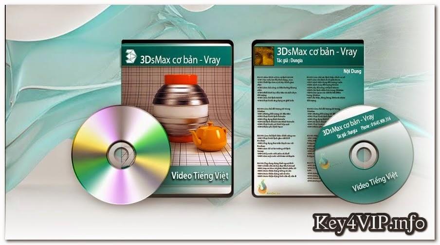 DVD giáo trình học 3DsMax 2014 và Vray,Giáo Trình Tiếng Việt