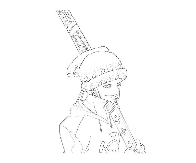 printable-one-piece-trafalgar-law-character-coloring-pages