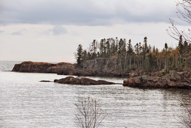a small cove on Minnesota's Lake Superior shore