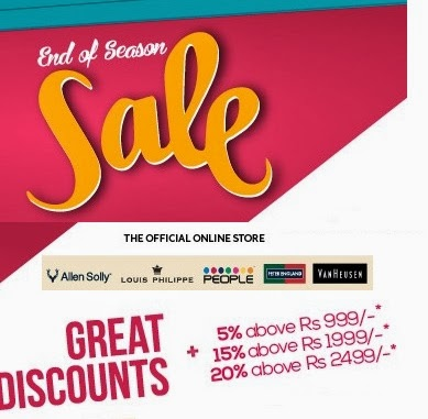 Great Discount on Big Fashion Brands: Enjoy Upto 60% Off + Extra 5% | 10% | 20% Off