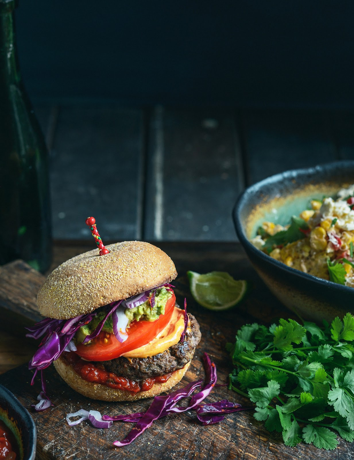 Mexican Beef Burger