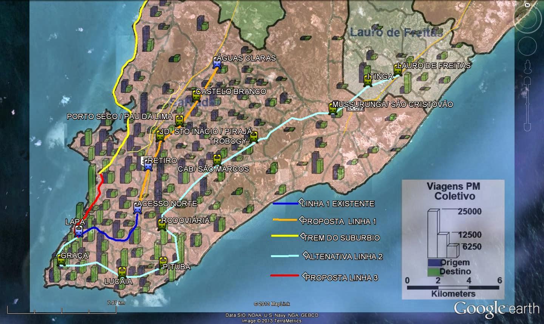 Proposta alternativa de metrô para Salvador