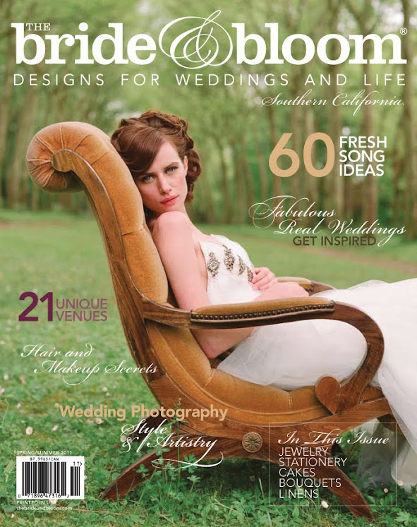 "FEATURED  IN ""BRIDE & BLOOM"" MAGAZINE"