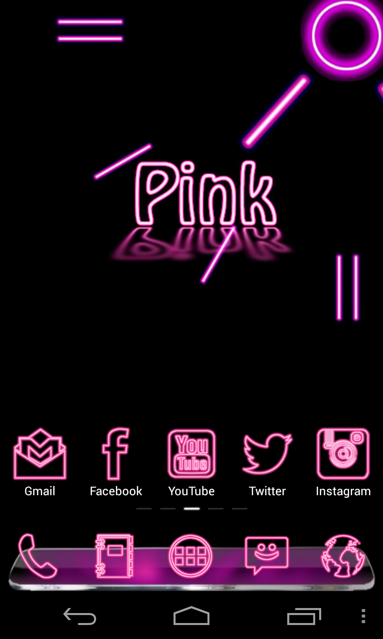 Pink themes for gmail - Update Your Pink Neon Complete 5 Themes App Get It Here If You Like Http Goo Gl J9kvs2