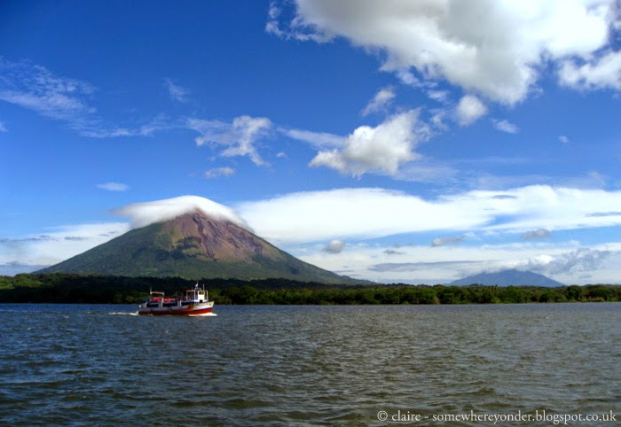on our way to Isla de Ometepe via ferry - Nicaragua 2009