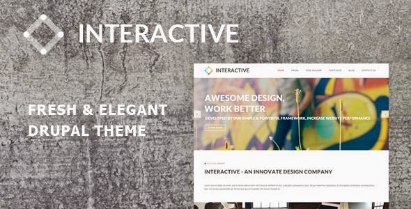 Interactive - Elegant & Creative Drupal Theme