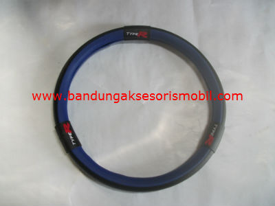 Sarung Setir New Model Type R Biru Hitam