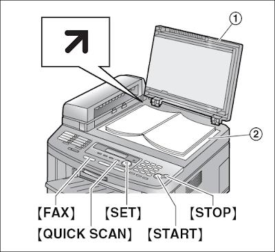 Cara kirim Fax KX-FLB802 dengan menggunakan kaca Scanner