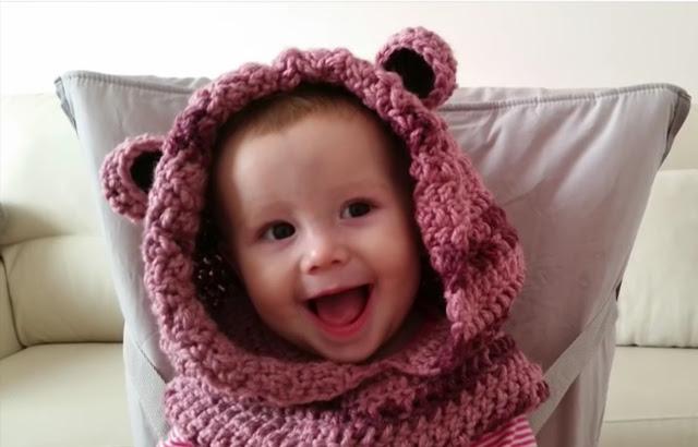 Capucha de Osito para Bebé