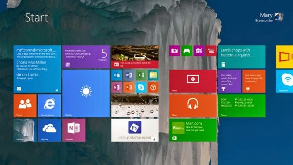 Windows 9 will build on the touchscreen nature of Windows 8