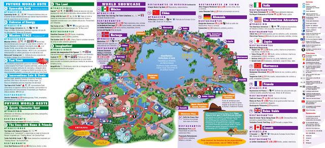 Mapa de Epcot