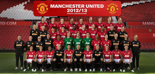 Manchester United 2012-2013 squad wallpaper download