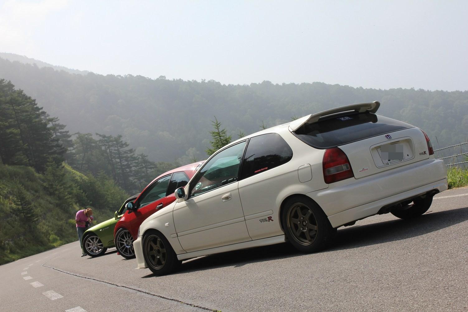 mountain pass, przełęcz, serpentyna, fury, auta, tuning, modyfikacje, Honda Civic VI, S2000, とうげ