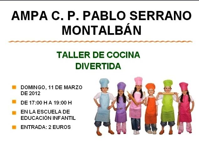 A m p a c p comarca cuencas mineras antes pablo for Taller de cocina teruel