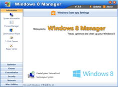 Free Download Yamicsoft Windows 8 Manager v1.1.2
