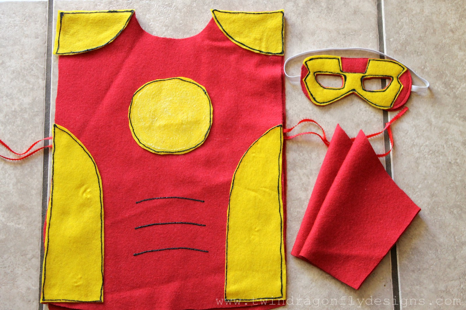 No sew super hero costumes tutorial dragonfly designs no sew super hero costumes tutorial pronofoot35fo Image collections