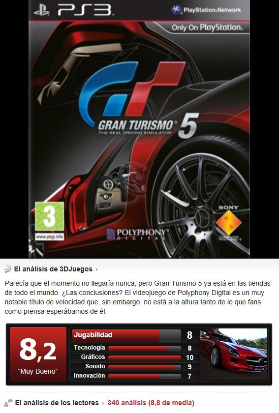 Gran Turismo 5 [Multi][PS3][3.55]