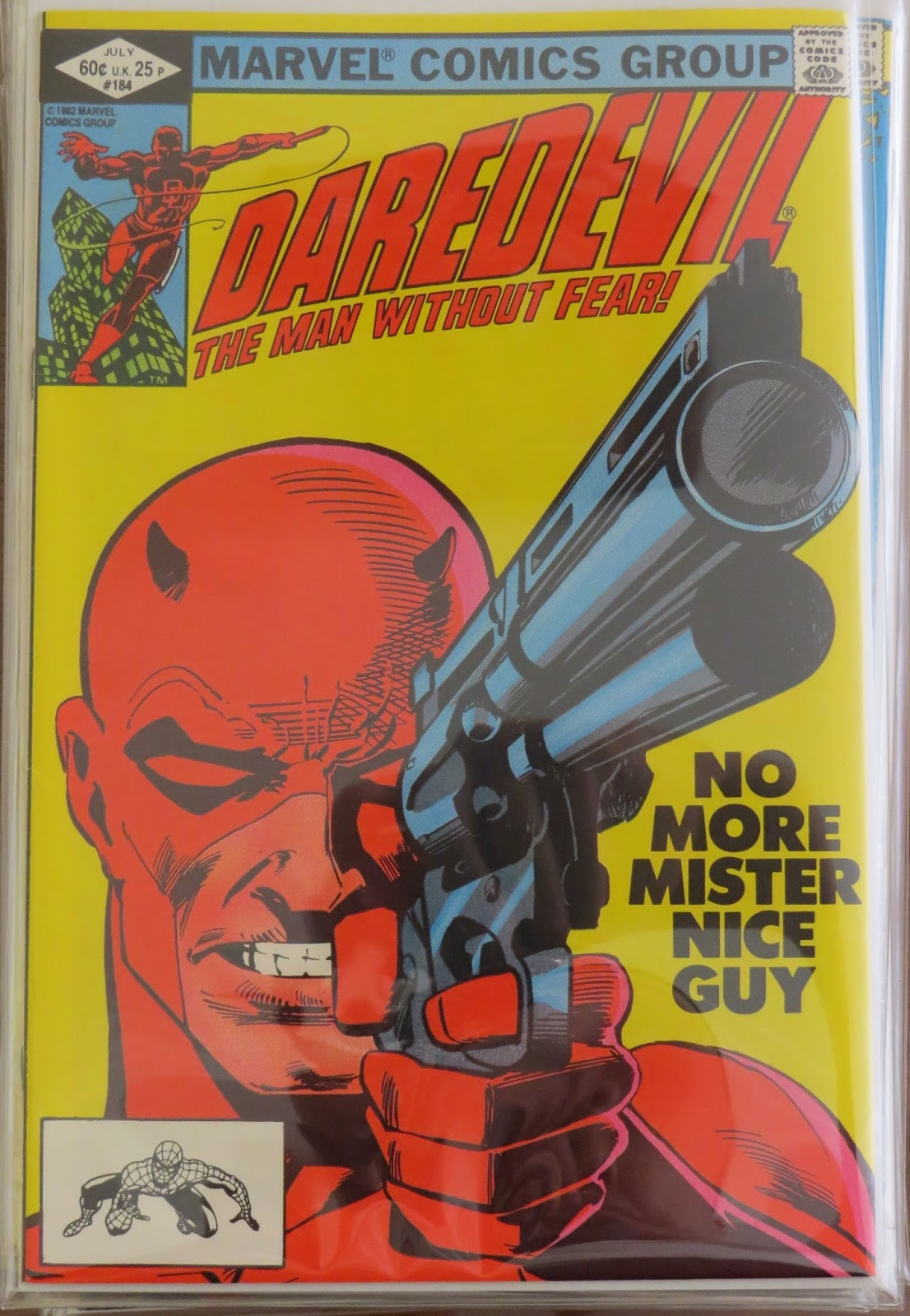 Daredevil The Man Without Fear 184 A Simple Cover That Says So Much Thanks To Miller And Janson No More Mister Nice Guy This Is Second Part Of